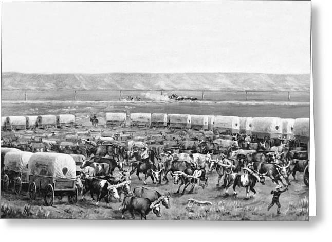 Covered Wagon Corral Greeting Card