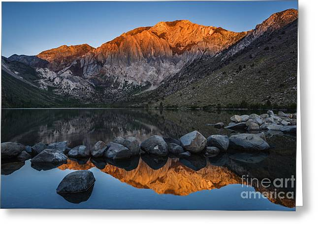 Convict Lake Sunrise Greeting Card by Vishwanath Bhat