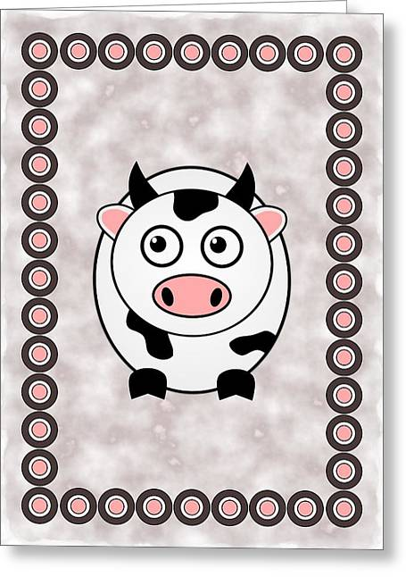 Cow - Animals - Art For Kids Greeting Card