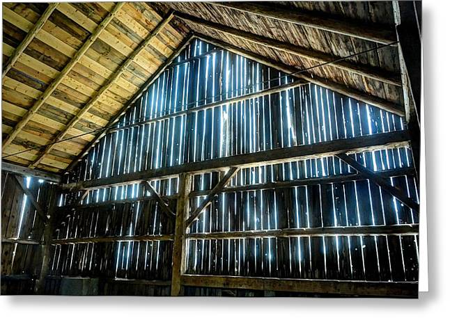 Cow Barn Greeting Card by John Nielsen