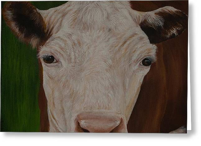 Cow Lick Greeting Card
