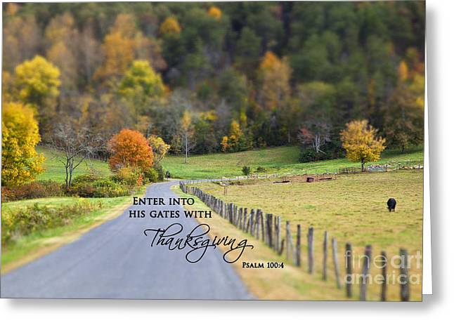 Cow Pasture With Scripture Greeting Card