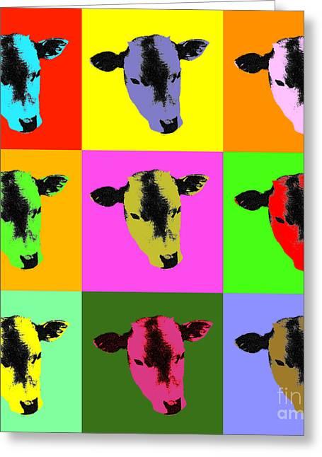 Cow Pop Art Greeting Card