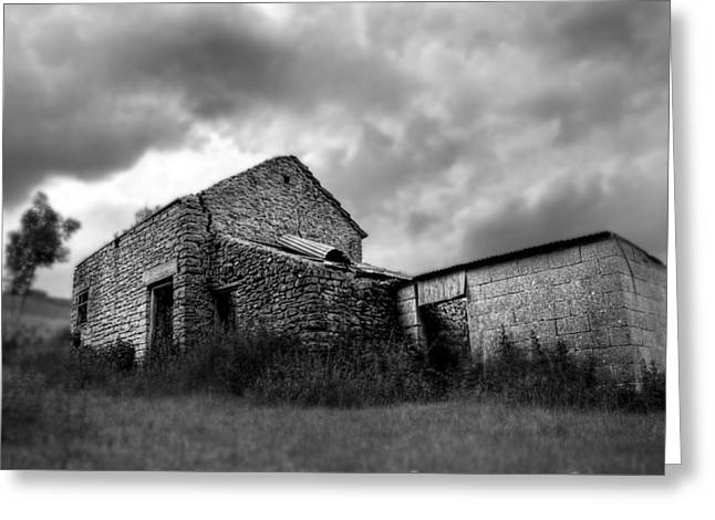 Greeting Card featuring the photograph Cow Shed by Stewart Scott