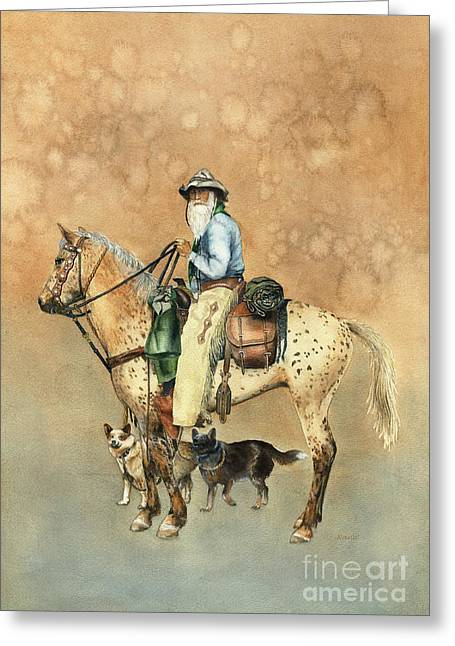 Cowboy And Appaloosa Greeting Card