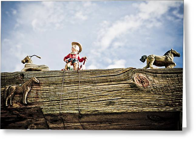 Cowboy And Hourses Greeting Card