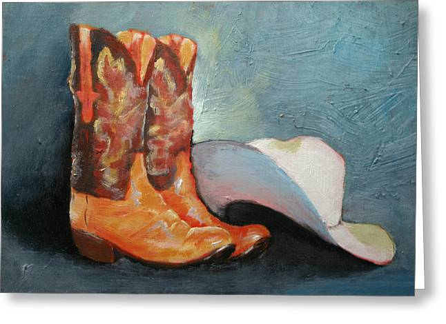 Cowboy Boots And Hat Greeting Card