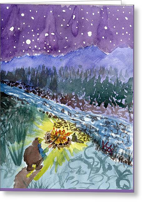 Cowboy Campout Greeting Card