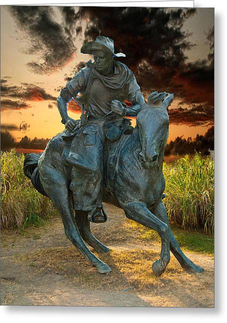 Cowboy Cathedral  Greeting Card by Douglas Burrell