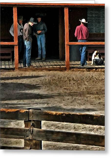 Cowboy Coffee Corner Greeting Card