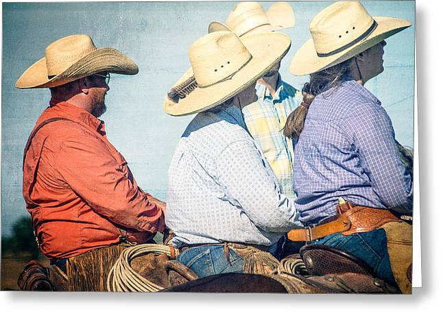 Greeting Card featuring the photograph Cowboy Colors by Steven Bateson