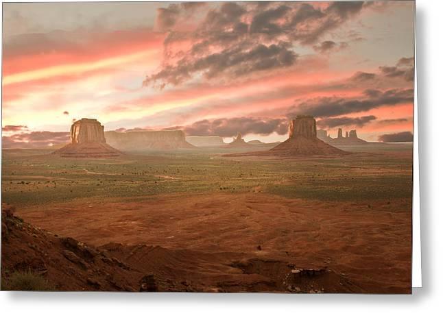 Cowboy Country Greeting Card by Randall Branham