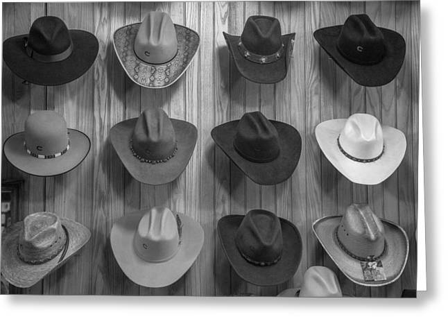 Cowboy Hats On Wall In Nashville  Greeting Card by John McGraw