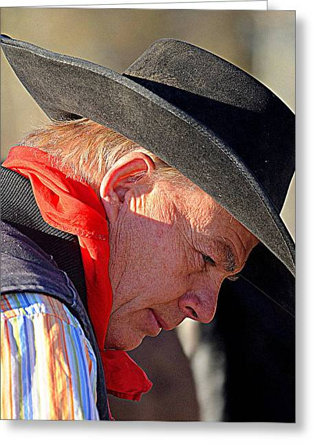 Cowboy In Thought Greeting Card
