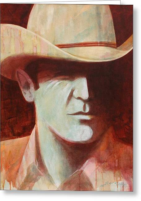 Cowboy Greeting Card by J W Kelly