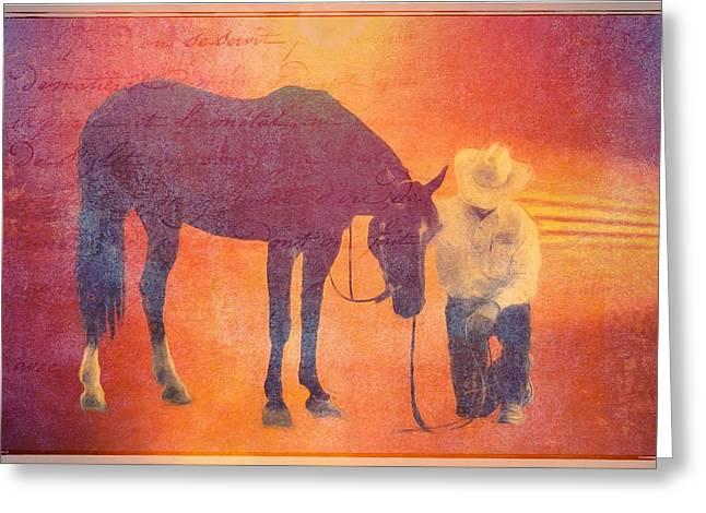 Cowboy Prayer Greeting Card
