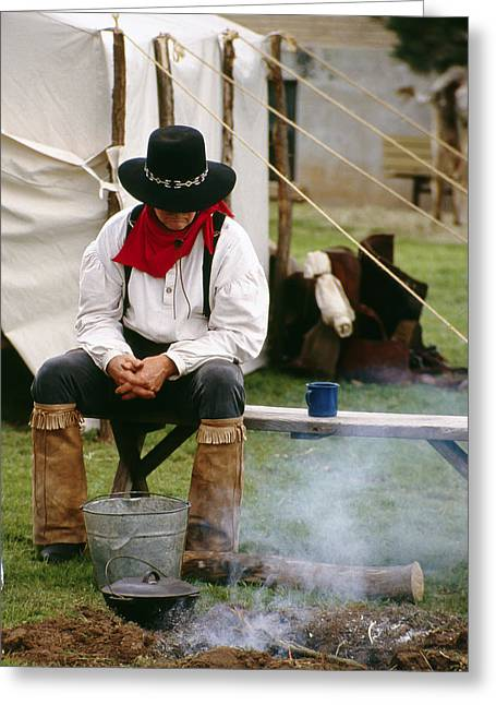 Cowboy Re-enactor Greeting Card
