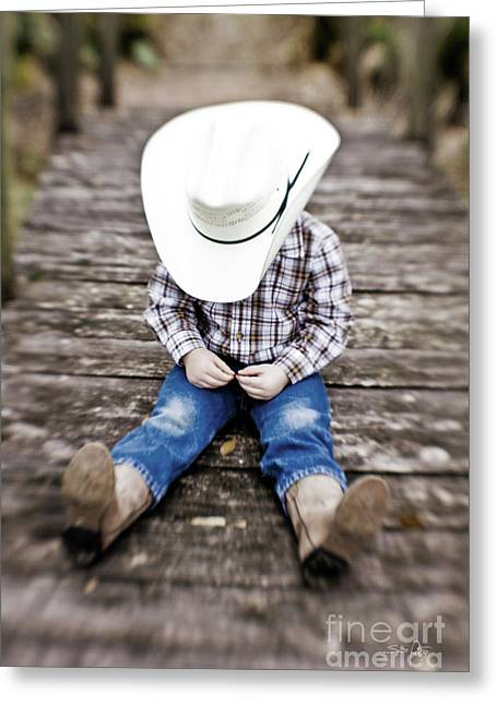 Cowboy Greeting Card by Scott Pellegrin