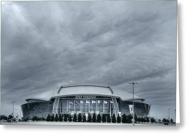 Cowboy Stadium Greeting Card by Joan Carroll
