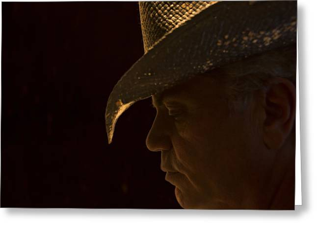Greeting Card featuring the photograph Cowboy-the American Icon That Disappeared Into History----------- by Renee Anderson