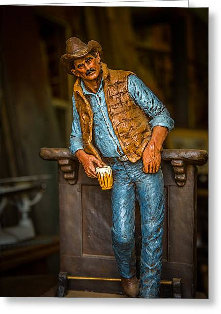 Cowboy Greeting Card by Todd Reese