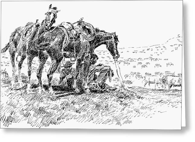 Cowboys, 19th Century Greeting Card by Granger