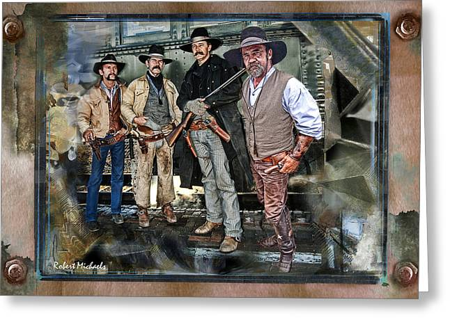 Robert michaels greeting cards cowboys in williams arizona greeting card m4hsunfo