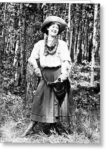 Cowgirl, 1908 Greeting Card
