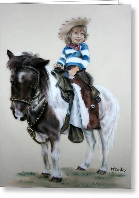 Cowgirl Dee Greeting Card by Dee Mccluskey