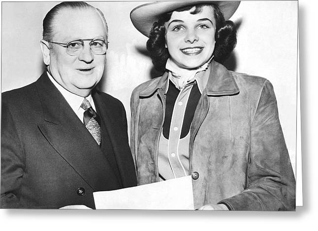 Cowgirl Dianne Feinstein Greeting Card