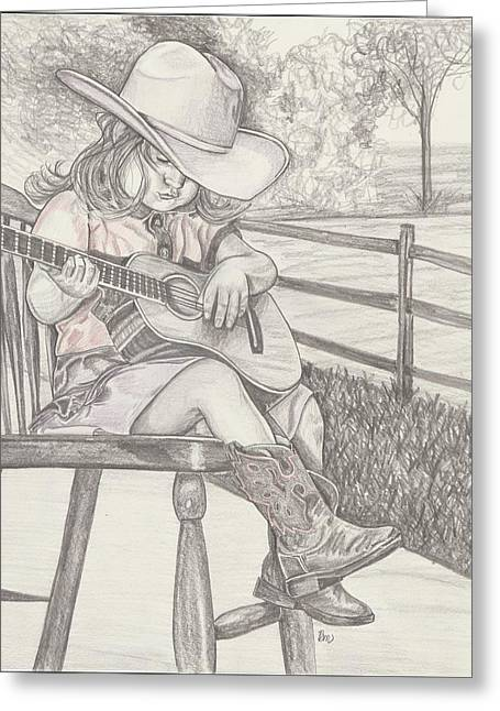 Cowgirl Melody Greeting Card