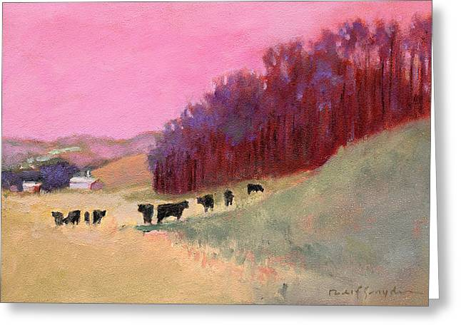 Cows 3 Greeting Card by J Reifsnyder