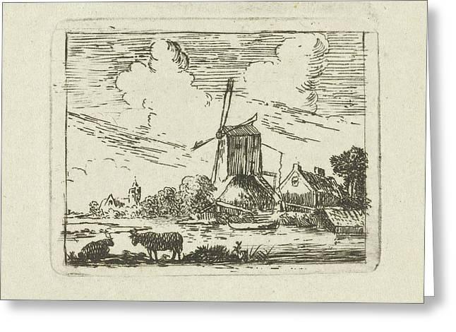 Cows On A Shore, Simon Klapmuts Greeting Card
