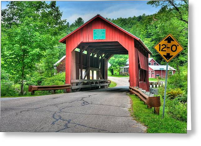 Cox Brook Bridge Greeting Card by John Nielsen