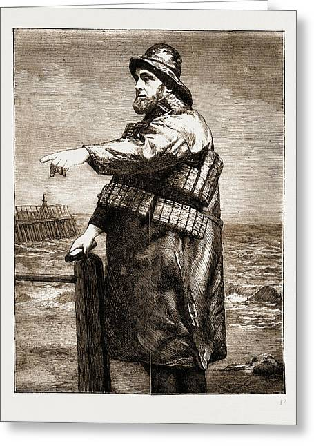 Coxswain Robert Hook Of The Lowestoft Lifeboat Samuel Greeting Card by Litz Collection