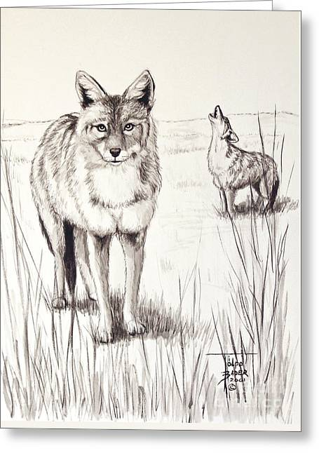 Coyote Life Greeting Card