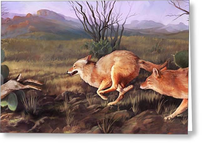 Coyote Run Greeting Card