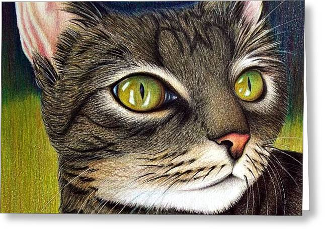Cozette Greeting Card by Danielle R T Haney