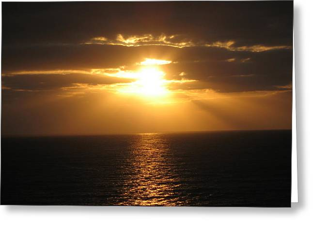 Greeting Card featuring the photograph Cozumel Mexico Sunset by Jean Marie Maggi