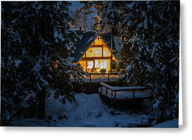 Greeting Card featuring the photograph Cozy Retreat by Dan Mihai