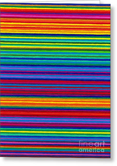 Cp038 Tapestry Stripes Greeting Card by David K Small
