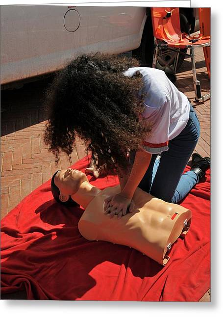 Cpr Training Greeting Card by Photostock-israel