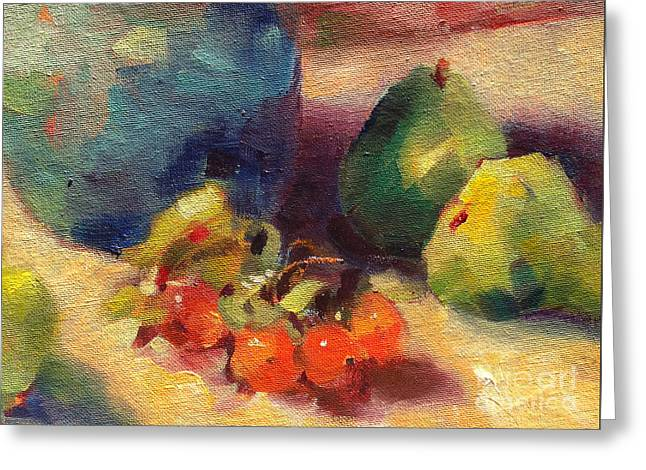 Crab Apples And Pears Greeting Card by Michelle Abrams