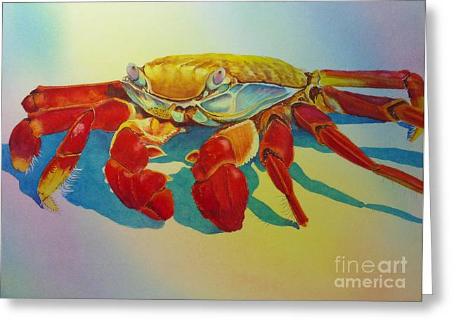 Colorful Crab  Greeting Card