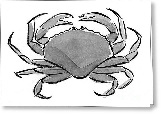 Crab Greeting Card by Laura Gilmore