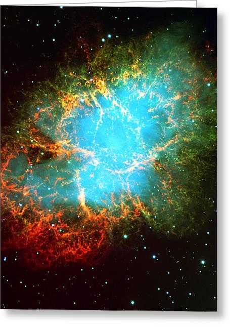 Crab Nebula Greeting Card by Georgia Fowler