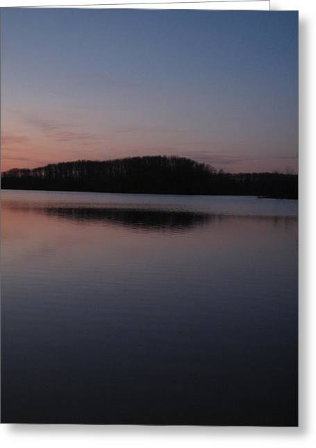 Crab Orchard Lake At Peace - 1 Greeting Card