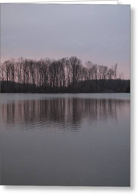 Crab Orchard Lake At Peace - 3 Greeting Card