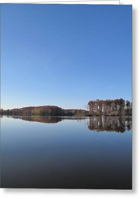 Crab Orchard Lake's Blue Mood Greeting Card