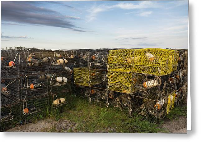 Greeting Card featuring the photograph Crab Pots by Gregg Southard